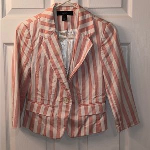 Forever21 Pink and white stripped blazer